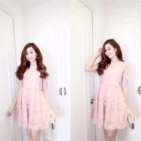 Đầm ren hoa lá cao cấp Quảng Châu