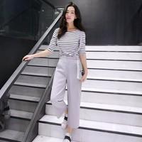HÀNG CAO CẤP -SET QUẦN YẾM ỐNG RỘNG KÈM ÁO  5969