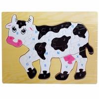 Tranh ghép hình con bò - Đồ chơi gỗ cho bé