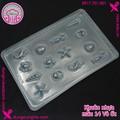 Khuôn nhựa làm bánh trung thu - rau cau - mẫu 14 Vỏ ốc - 2C073-C