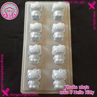Khuôn nhựa làm bánh trung thu - rau cau - mẫu 8 Hello Kitty - YT067