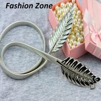 dây thắt lưng đàn hồi  chiếc lá thời trang Hàn Quốc phụ kiện váy