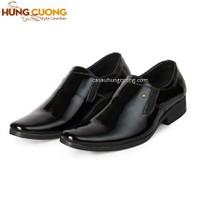 Giày tây da bóng cao cấp Hùng Cường màu đen HC1029