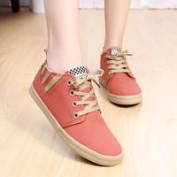 Giày vải gót phối sọc thời trang - LN433