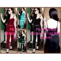J365- Set nguyên bộ áo hai dây quần dài