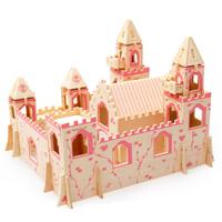 Bộ đồ chơi gỗ ghép hình lâu đài cho bé