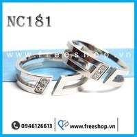 Nhẫn đôi cao cấp NC181 - BH vĩnh viễn ko đen
