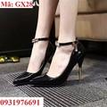 Giày cao gót đính pha lê cao cấp - GX28