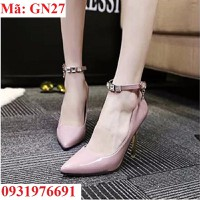 Giày cao gót nữ đính pha lê cao cấp Hàn Quốc - GN27