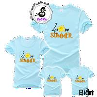 Áo gia đình Love summer