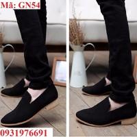 Giày lười nam đen form Ý cao cấp  - GN54