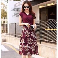 Đầm Maxi Sari Đỏ