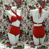 Bộ Bikini cao cấp màu đỏ quyến rủ