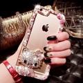 Ốp lưng Silicon Mèo đính đá iPhone 6,6S