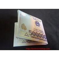 bóp nam hình tờ tiền 500k hàng cao cấp loại 1