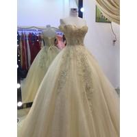 áo cưới da hoa văn