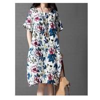 Đầm suông ngắn tay váy in hoạ tiết hoa xinh xắn,trẻ trung-D2711