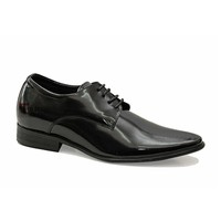 giày cao nam đen bóng