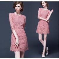 Đầm ren suông thời trang cao cấp 2016 - A936-1
