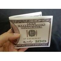 bóp nam in hình tờ 100 USD, hàng cao cấp loại 1