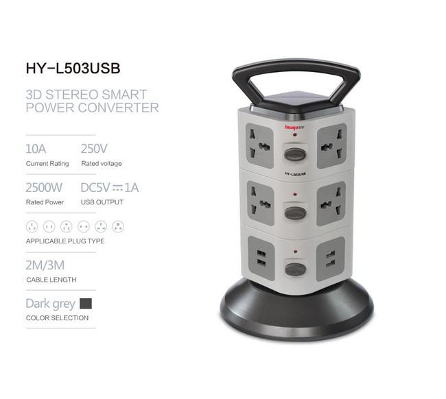 Ồ ĐIỆN 3 TẦNG CÓ 2 CỔNG USB 11 Ổ ĐIỆN 3 CÔNG TẤC