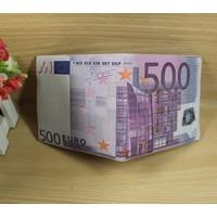 ví in hình tiền 500 EURO hàng cao cấp loại 1