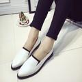 Giày Oxford nữ trắng