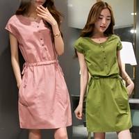 Đầm suông Hàn Quốc có dây thắt eo độc đáo cho các nàng 104