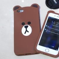 Ốp dẻo thú nổi gấu Brown mỏng iPhone 5.5s,6.6s, 6plus.6s plus