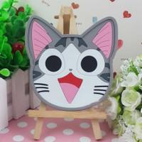Tấm đế lót ly silicon siêu dễ thương Cheese cat