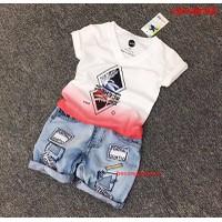Bộ quần jean áo thun cực yêu cho bé từ 1-8 tuổi_CBT20870