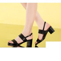 Giày cao cấp -giày sandal 2 quai ngang