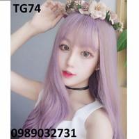 Tóc giả Hàn Quốc màu tím HOT 2016 -- TG74