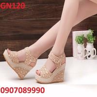 Giày đế xuồng ren cao cấp - GN120