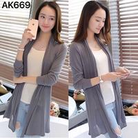 Áo khoác len dệt kim phome dài xinh xắn-AK669