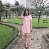 Đầm voan chân ren