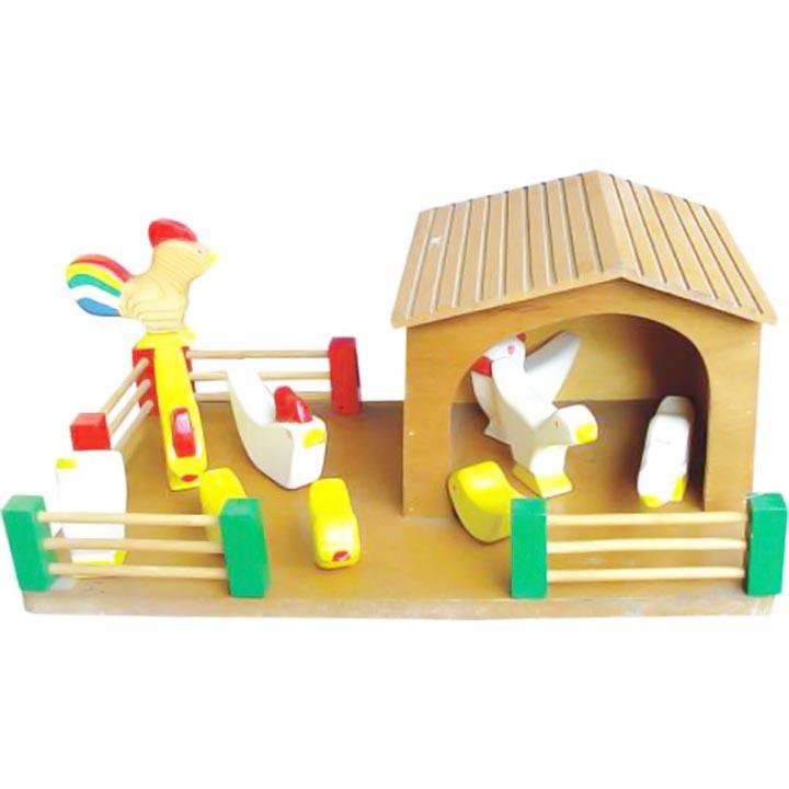 Bộ đồ chơi mô hình nông trại gia cầm Alengkeng MT43
