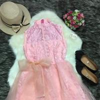 Đầm hồng công chúa cao cấp