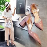 Giày gót vuông bít mũi thời trang - LN636