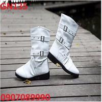 Giày bốt nam trắng NEW - GN135