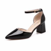 Giày gót vuông kiểu mới 6cm
