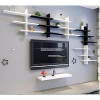 Bộ kệ gỗ trang trí K34 iLife - đen
