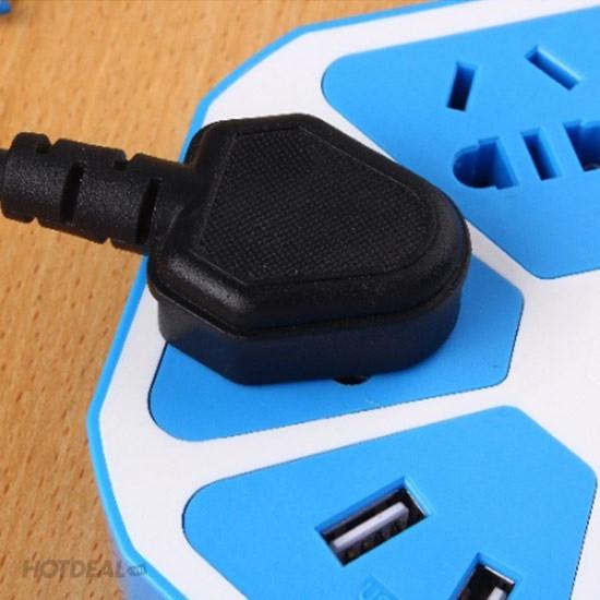 Ổ Cắm Điện Đa Năng Trái Cam Với 5 Lỗ Cắm 3 Chấu Và 2 Cổng USB 6
