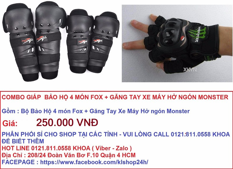 MONSTER PROBIKER FOX ALPINESTAR Do Bao Ho Moto Xe May - 3