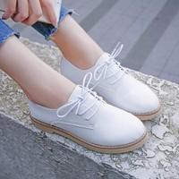 Giày Oxford nữ da hàng nhập - LN518
