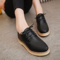 Giày Oxford nữ da hàng nhập - LN513