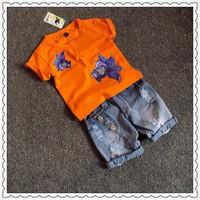 Bộ quần jean áo thun hình con cá cực yêu cho bé từ 1-8 Tuổi_CBT20847