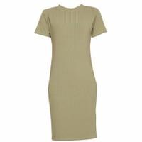 Áo Váy Đầm Len Mỏng Dáng Form Dài Midi Ngắn Tay Cổ Tròn DAM 0061 OL