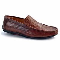 Giày da lười vấn cá sấu sành điệu