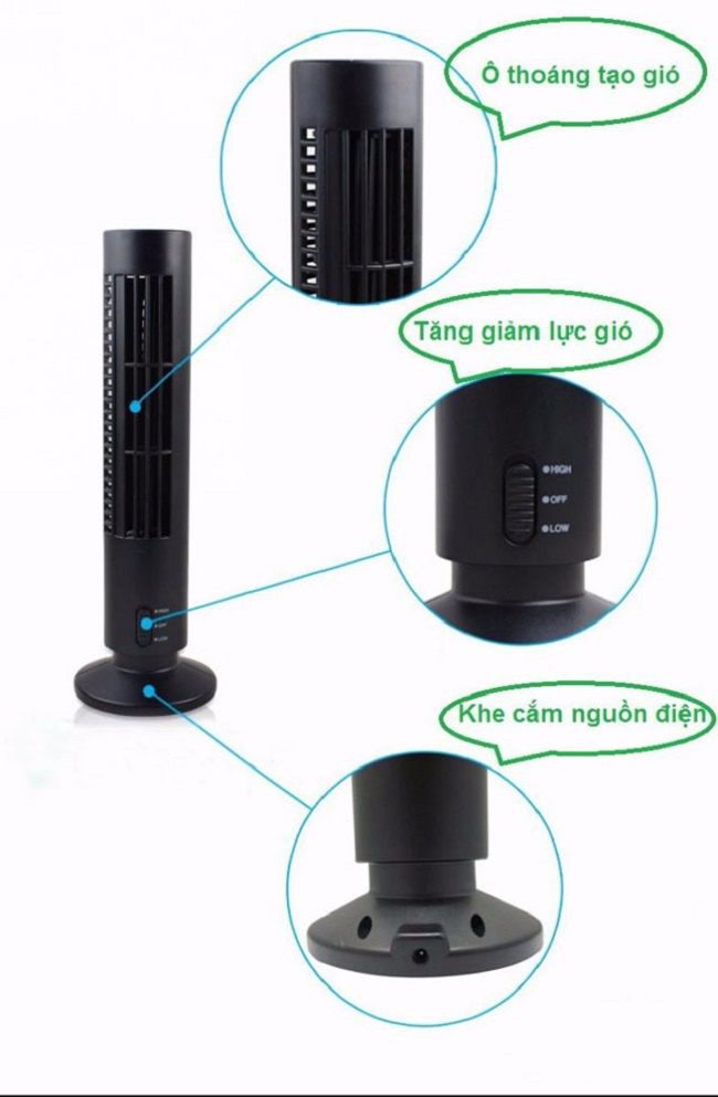 dieu hoa cay mini usb Towerfan